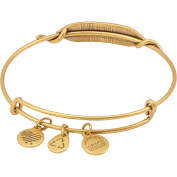 Alex and Ani Atlantean Wrap Bangle Russian Gold, A11EBW116RG