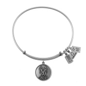 Wind & Fire Gemini (Twins) Silver Charm Bangle (May 21 - June 20)