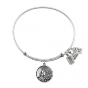 Wind & Fire Capricorn (Goat) Silver Charm Bangle (December 22 - January 19)
