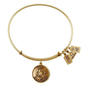 Wind & Fire Capricorn (Goat) Gold Charm Bangle (December 22 - January 19)