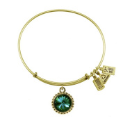 Wind & Fire May Birthstone Charm Bangle Gold
