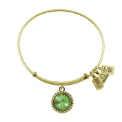 Wind & Fire August Birthstone Charm Bangle Gold