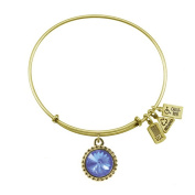 Wind & Fire March Birthstone Charm Bangle Gold