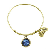 Wind & Fire September Birthstone Charm Bangle Gold