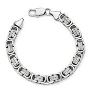 Stainless Steel Polished and Textured Bracelet