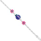 Sterling Silver Enamelled Baby Bracelet