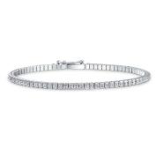 Bling Jewellery 925 Silver Anklet Princess Cut CZ Tennis Ankle Bracelet 23cm
