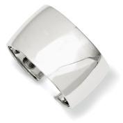 Sterling Silver 40mm Cuff Bangle Bracelet