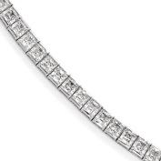 Sterling Silver Rhodium Plated CZ 18cm Bracelet