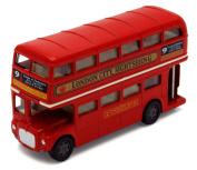 London Double Decker Bus , Red - Motormax 193050cm - 12cm Diecast Model Toy Car