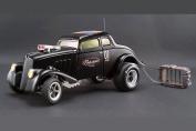 Pork Chop's 1933 Willys Gasser Gaolbreak, Black - Acme 1800907 - 1/18 Scale Diecast Model Toy Car