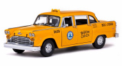 1981 Los Angeles Checker Taxicab, Yellow - Sun Star 2503 - 1/18 Scale Diecast Model Toy Car