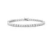 14K White Gold Diamond Tennis Bracelet with 4.00CT of Diamonds