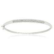 14K White Gold 0.50 CTTW Diamond Fashion Bangle