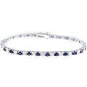 Plutus Sterling Silver Platinum-Finish Brilliant Tennis Bracelet
