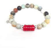 "Julieta Jewellery Green Amazonite ""Coral"" Sterling Silver Stretch Bracelet"