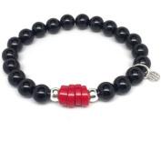 "Julieta Jewellery Black Onyx ""Coral"" Sterling Silver Stretch Bracelet"