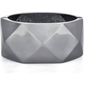 Fitbit Geometric Pattern Metalic Finish Enhancer Bangle Bracelet for Fitbit Bit Charge