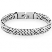Crucible High-Polish Stainless Steel Double Franco Link Bracelet