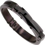 Primal Steel Stainless Steel Black IP-Plated Bangle