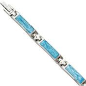 Primal Steel Stainless Steel Blue Enamel Bracelet, 18cm