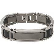 Daxx Men's Titanium Carbon Fibre Link Bracelet, 22cm