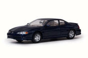 2000 Chevy Monte Carlo SS, Navy Blue - Sun Star 1986 - 1/18 Scale Diecast Model Toy Car