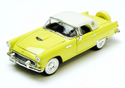 1956 Ford Thunderbird Convertible w/ Removable Bonnet, Yellow - Phoenix 18508 - 1/24 Scale Diecast Model Toy Car