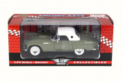 1956 Ford Thunderbird Closed Convertible, Green - Motor Max 73312W - 1/24 Scale Diecast Model Toy Car