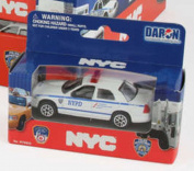 NYPD Police Car, White - Daron RT8953P - Diecast Model Toy Car