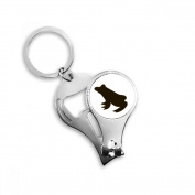 Black Frog Cute Animal Portrayal Metal Key Chain Ring Multi-function Nail Clippers Bottle Opener Car Keychain Best Charm Gift