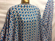 L/Weight Fine Smooth Polyester Floral Print 2 Dress/Crafts Fabric