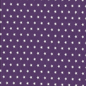 Sweat Fabric Stars, Purple White