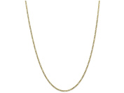 7 Inch 10k 1.75mm Polished Figaro Chain Bracelet in 10 kt Yellow Gold
