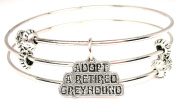 Adopt A Retired Greyhound Triple Style Expandable Bangle Bracelet, Fits 19cm wrist, Chubby Chico Charms Exclusive