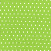 Sweat Fabric Stars Lime Green/White
