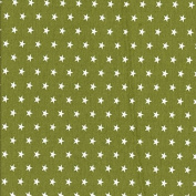 Sweat Fabric Stars Olive Green White