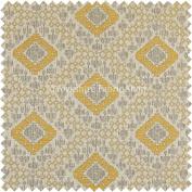 Kilim Aztec Geometric Inspired Pattern Yellow Colour Quality Upholstery Furnishing Fabrics