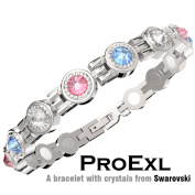 A Crystal Womens Magnetic Bracelet Multi Colour Crystals Relief from Arthritis and Joint Pain