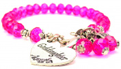 Goddaughter Heart Splash Of Colour Crystal Bracelet, Fits 19cm wrist, Chubby Chico Charms Exclusive