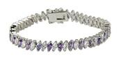 February Birthstone 19cm Tennis Bracelet High Quality Fashion Mar...