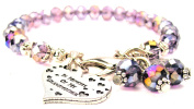 In Memory Of My Grandmother Splash Of Colour Crystal Bracelet, Fits 19cm wrist, Chubby Chico Charms Exclusive