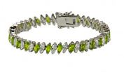 August Birthstone 19cm Tennis Bracelet High Quality Fashion Marqu...