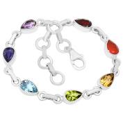 XTREMEGEMS Healing Chakra 925 Sterling Silver Bracelet Jewellery CP122