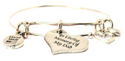 In Loving Memory Of My Dad Expandable Bangle Bracelet, Fits 19cm wrist, Chubby Chico Charms Exclusive