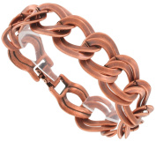 Oversized Chain Bracelet Copper Ox Tone Finish Double Link USA Made