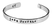Just Breathe - Hand Stamped 0.6cm Bracelet - Cystic Fibrosis Awareness
