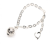 Essential Oil Diffuser Aromatherapy Bracelet Silver Link band with Aroma Locket Charm by Izzybell Jewellery