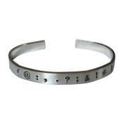 Punctuation Bracelet - Teacher Gift, Writer, Hand Stamped 0.6cm Aluminium Cuff...