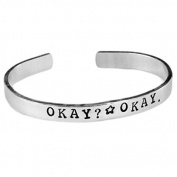 Okay. Okay. The fault in our stars bracelet - 0.6cm Aluminium Adjustable